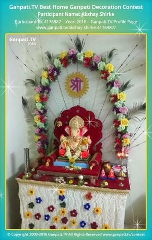 Akshay Shirke Ganpati Decoration