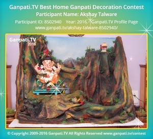 Akshay Talware Ganpati Decoration
