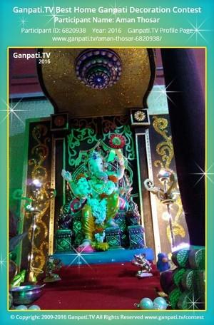 Aman Thosar Ganpati Decoration