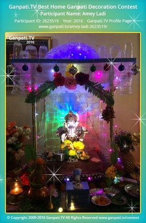 Amey Ladi Ganpati Decoration