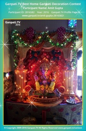 Amit Gupta Ganpati Decoration