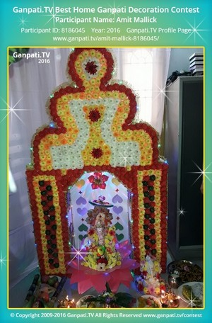 Amit Mallick Ganpati Decoration