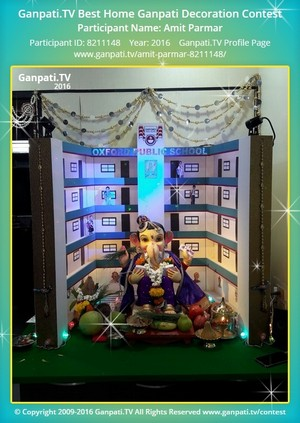 Amit Parmar Ganpati Decoration
