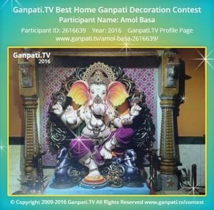 Amol Basa Ganpati Decoration