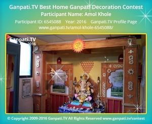 Amol Khole Ganpati Decoration