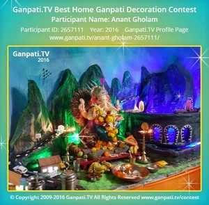 Anant Gholam Ganpati Decoration