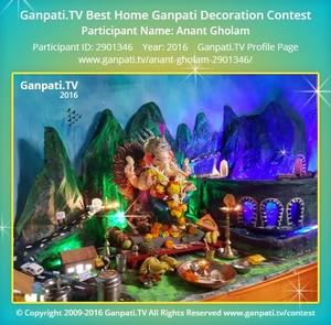 Anant Gholam Ganpati Decoration