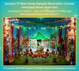 Anant Soni Ganpati Decoration