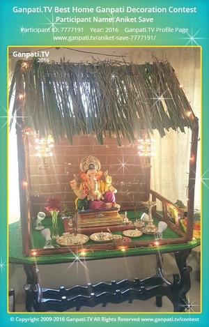 Aniket Save Ganpati Decoration