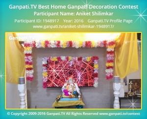 Aniket Shilimkar Ganpati Decoration