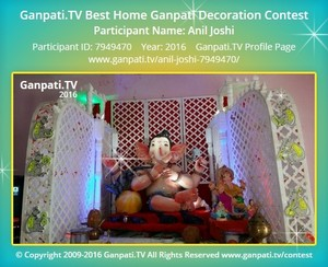 Anil Joshi Ganpati Decoration