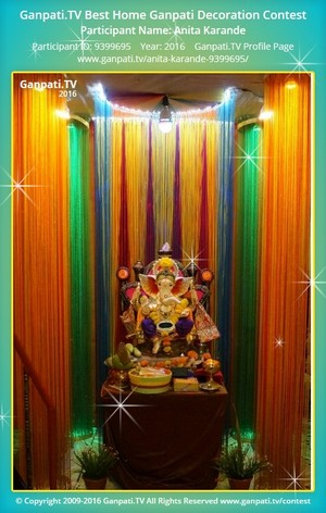 Anita Karande Ganpati Decoration