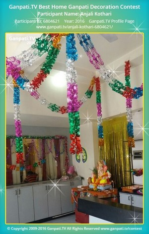 Anjali Kothari Ganpati Decoration