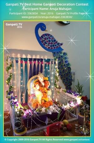 Anuja Mahajan Ganpati Decoration