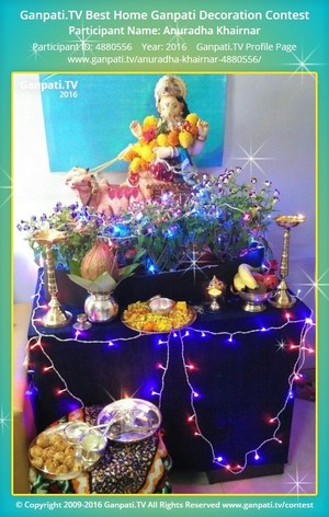 Anuradha Khairnar Ganpati Decoration