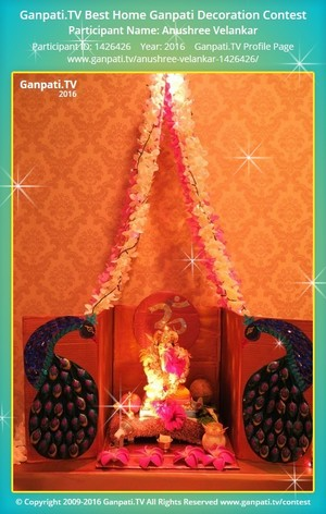 Anushree Velankar Ganpati Decoration