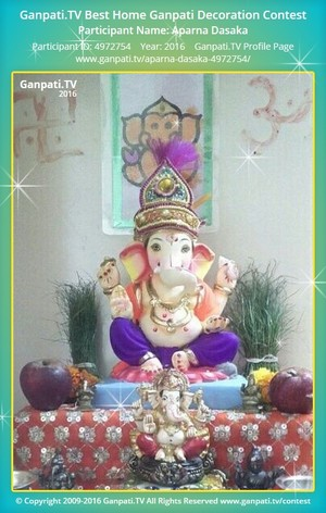 Aparna Dasaka Ganpati Decoration