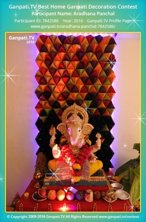 Aradhana Panchal Ganpati Decoration