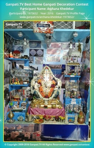 Archana Khedekar Ganpati Decoration