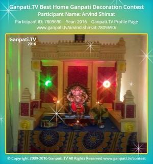 Arvind Shirsat Ganpati Decoration