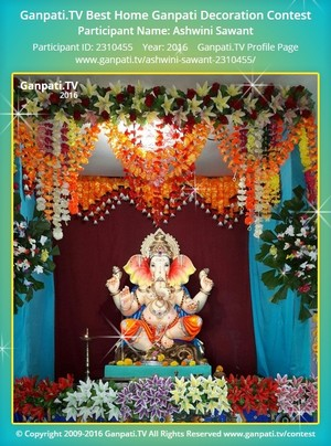 Ashwini Sawant Ganpati Decoration