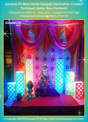 Basu Dandwani Ganpati Decoration