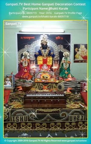 Bhakti Karale Ganpati Decoration