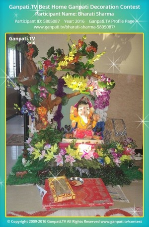 Bharati Sharma Ganpati Decoration