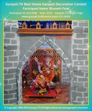 Bhavesh Patel Ganpati Decoration