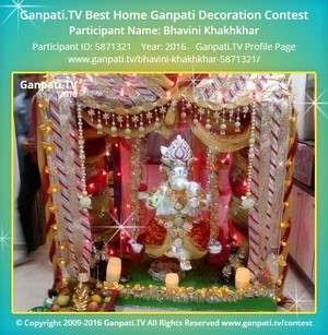 Bhavini Khakhkhar Ganpati Decoration