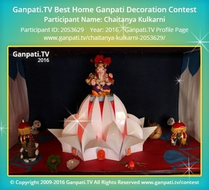 Chaitanya Kulkarni Ganpati Decoration
