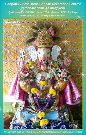 Chinmay Joshi Ganpati Decoration