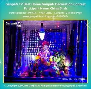 Chirag Shah Ganpati Decoration