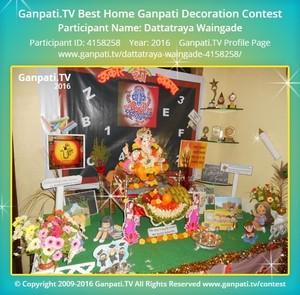 Dattatraya Waingade Home Ganpati Picture