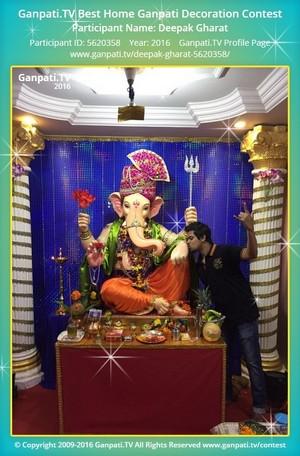 Deepak Gharat Home Ganpati Picture
