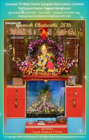 Deepak Menghnani Ganpati Decoration