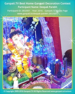 Deepak Parekh Ganpati Decoration