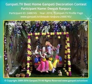 Deepak Ranpura Ganpati Decoration