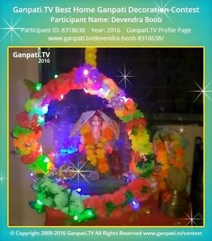 Devendra Boob Home Ganpati Picture