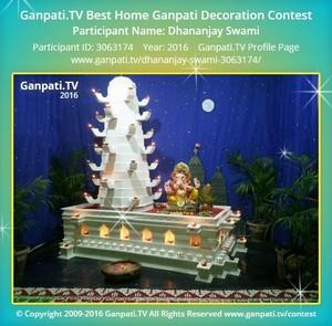 Dhananjay Swami Ganpati Decoration