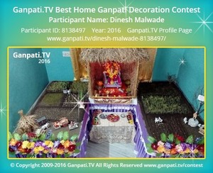 Dinesh Malwade Ganpati Decoration