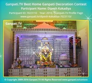 Dipesh Kakadiya Ganpati Decoration