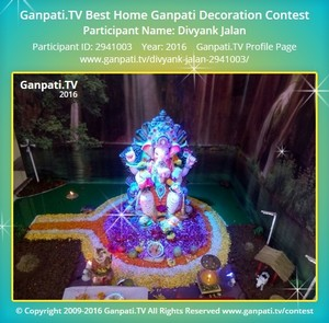 Divyank Jalan Ganpati Decoration