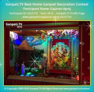 Gajanan Apraj Ganpati Decoration