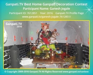 Ganesh Jogale Ganpati Decoration