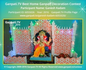 Ganesh Kadam Ganpati Decoration