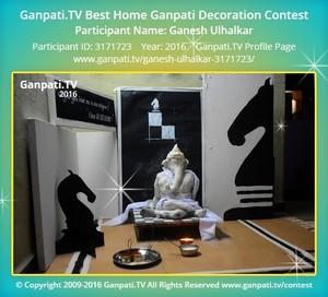 Ganesh Ulhalkar Ganpati Decoration