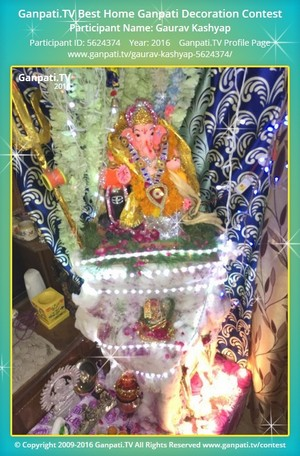 Gaurav Kashyap Ganpati Decoration