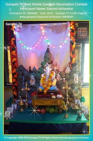 Gauravi Acharekar Ganpati Decoration