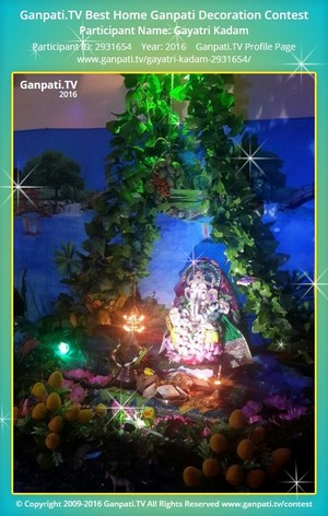 Gayatri Kadam Ganpati Decoration